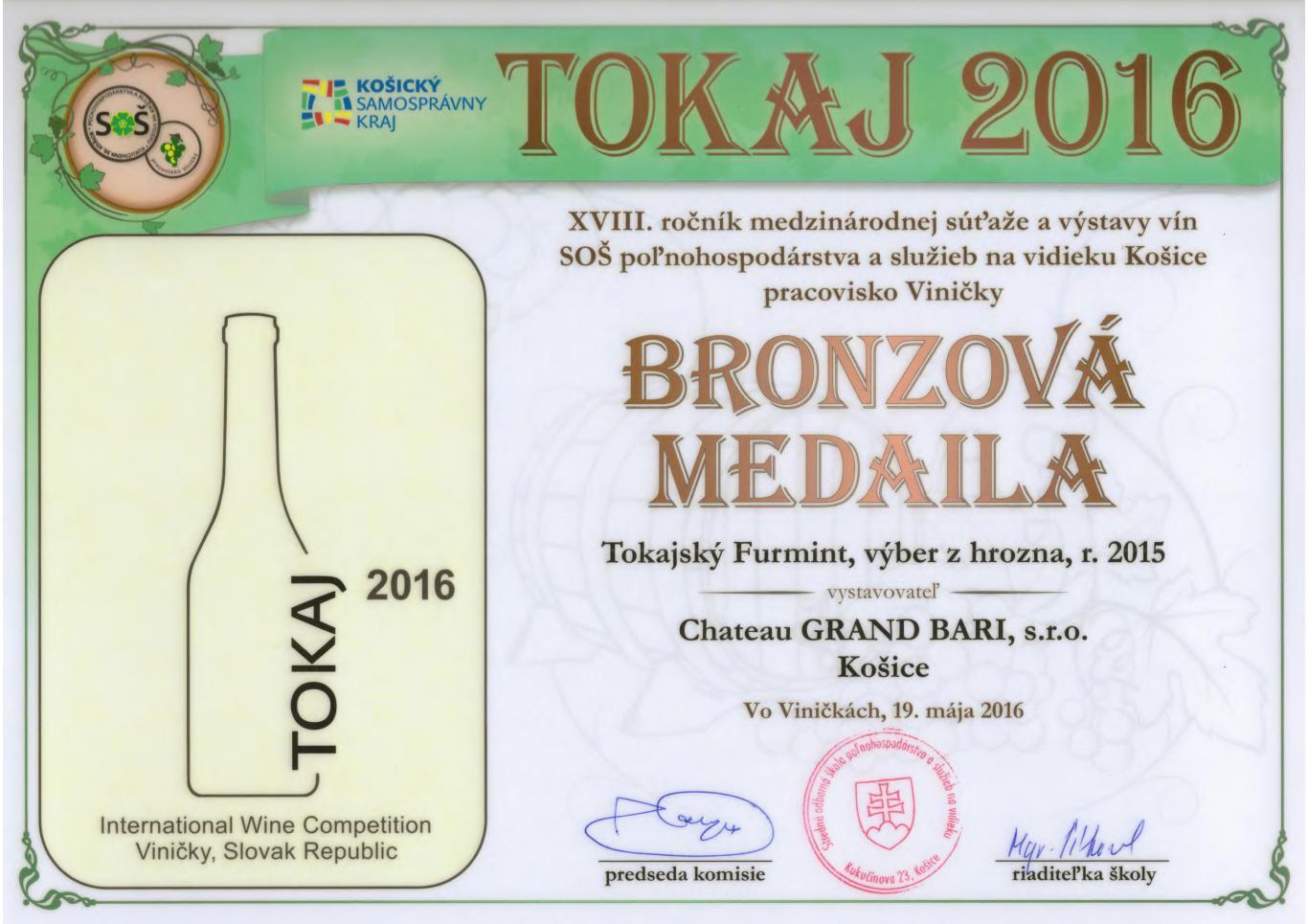 Tokaj Furmint – Furmint dry 2015