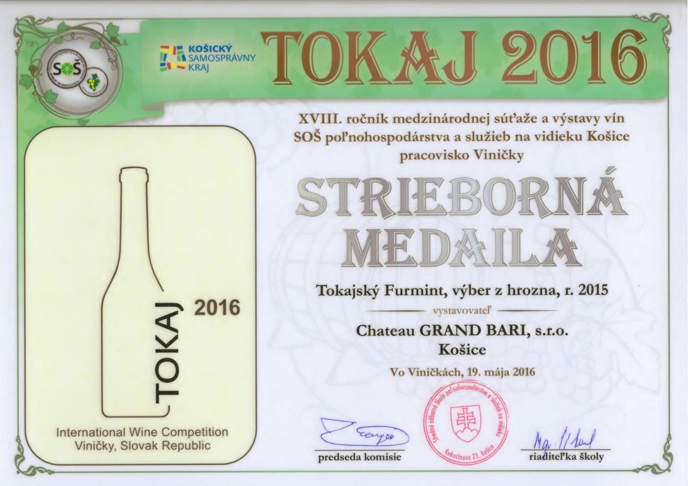 Tokaj Furmint – Furmint, semi-sweet, 2015